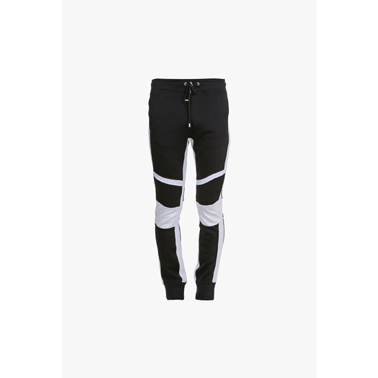 BALMAIN MEN PANELLED COTTON-JERSEY SWEATPANTS Outlet Online