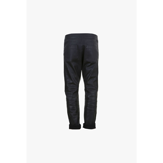 BALMAIN MEN RIBBED STRETCH COTTON SWETPANTS Outlet Online