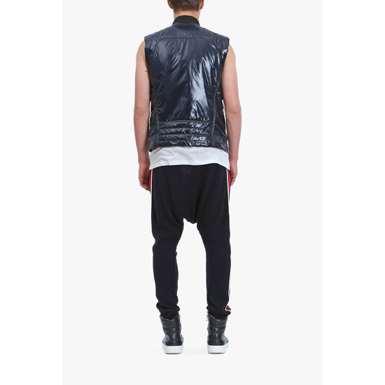 BALMAIN MEN SHINY NYLON SLEEVELESS DOWN-JACKET Outlet Online