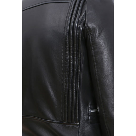 BALMAIN MEN ASYMMETRIC ZIPPER LEATHER JACKET Outlet Online