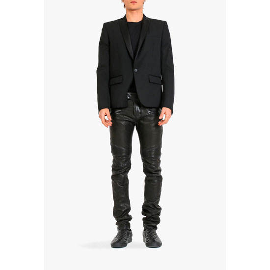 BALMAIN MEN WOOL TUXEDO JACKET Outlet Online