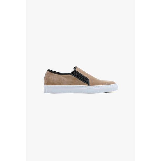 BALMAIN MEN SUEDE SKATE SHOES Outlet Online