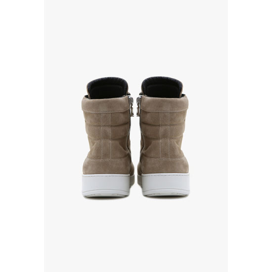 BALMAIN MEN SUEDE HIGH-TOP SNEAKERS Outlet Online