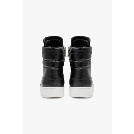 BALMAIN MEN LEATHER HIGH-TOP SNEAKERS Outlet Online