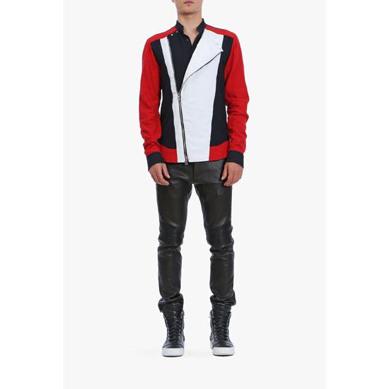 BALMAIN MEN ZIPPED VINTAGE COTTON SHIRT Outlet Online