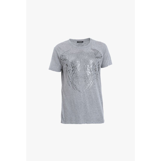 BALMAIN MEN AMERINDIAN METALLIC PRINTED COTTON-JERSEY T-SHIRT Outlet Online