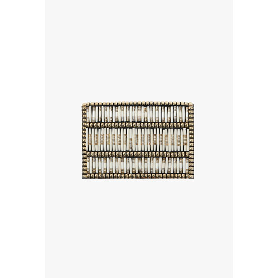 BALMAIN WOMEN BEADED LEATHER CLUTCH Outlet Online