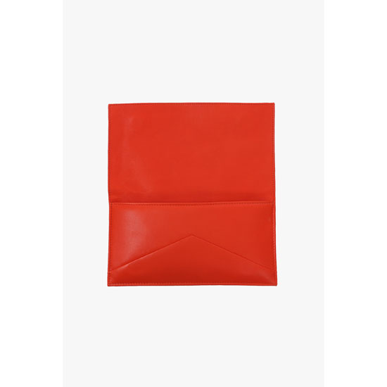BALMAIN WOMEN EMBROIDERED LEATHER CLUTCH Outlet Online