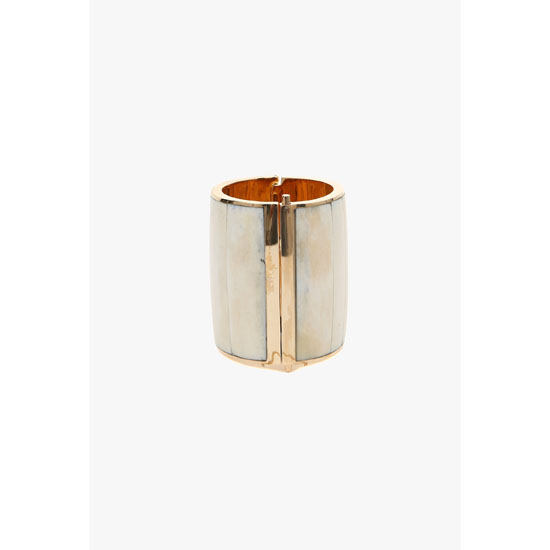 BALMAIN WOMEN GOLD-COLOURED METAL AND BONES CUFFS Outlet Online