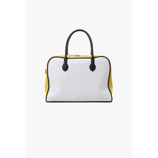 BALMAIN WOMEN LEATHER AND SUEDE PIERRE BAG Outlet Online