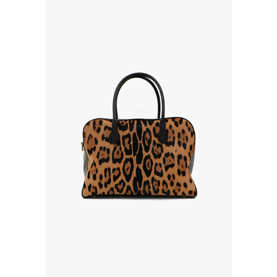 BALMAIN WOMEN PIERRE BAG IN PONYSKIN LEOPARD PRINT Outlet Online