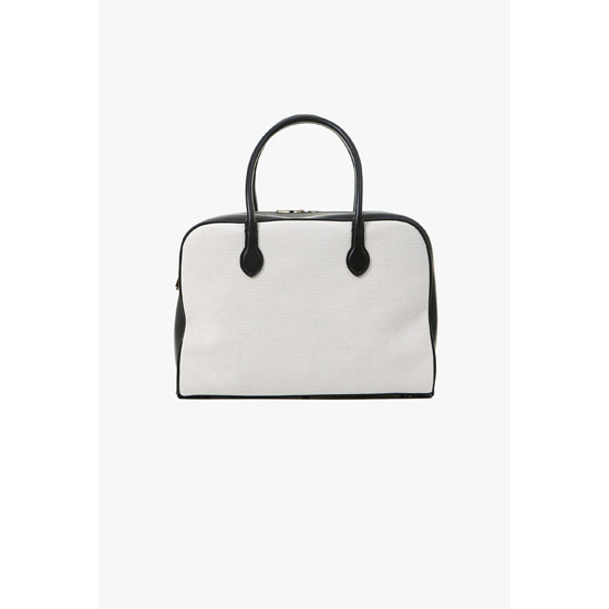BALMAIN WOMEN LEATHER AND FABRIC PIERRE BAG Outlet Online
