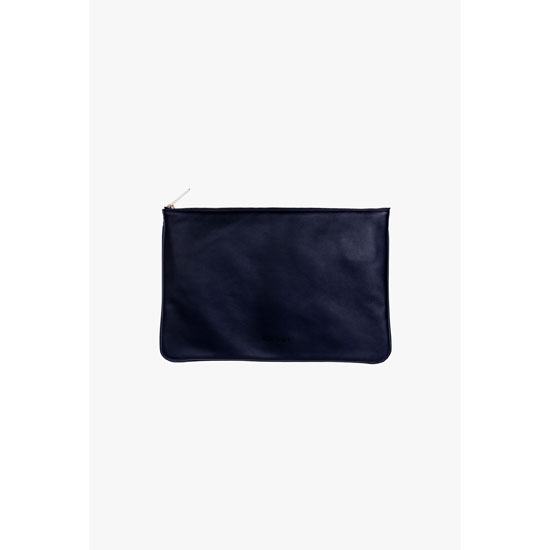 BALMAIN WOMEN SMOOTH LEATHER PIERRE CLUTCH Outlet Online