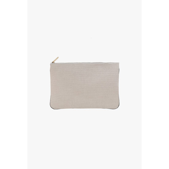BALMAIN WOMEN OFF-WHITE FABRIC PIERRE CLUTCH Outlet Online