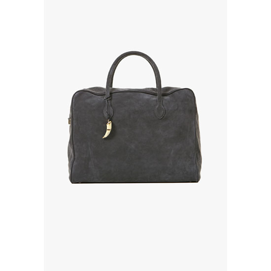 BALMAIN WOMEN GREY SUEDE PIERRE WEEK-END BAG Outlet Online