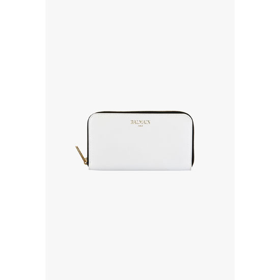 BALMAIN WOMEN SMOOTH LEATHER WALLET Outlet Online