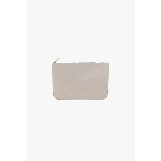 BALMAIN WOMEN OFF-WHITE FABRIC PIERRE MINI-CLUTCH Outlet Online