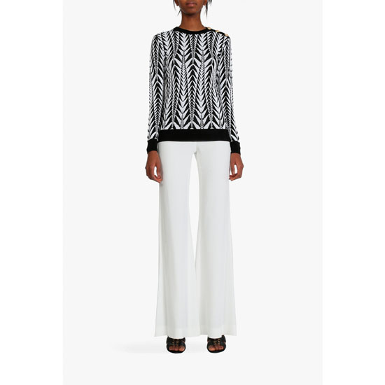 BALMAIN WOMEN VISCOSE BLEND CADY PANTS Outlet Online