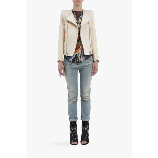 BALMAIN WOMEN BOYFRIEND STRETCH COTTON JEANS Outlet Online