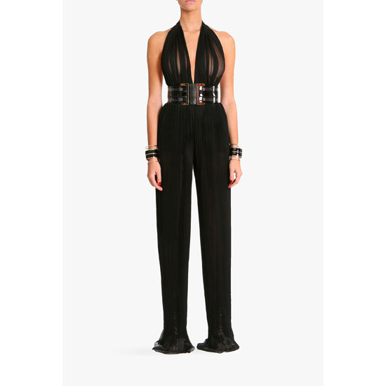 BALMAIN WOMEN SILK MOUSSELINE JUMPSUIT Outlet Online