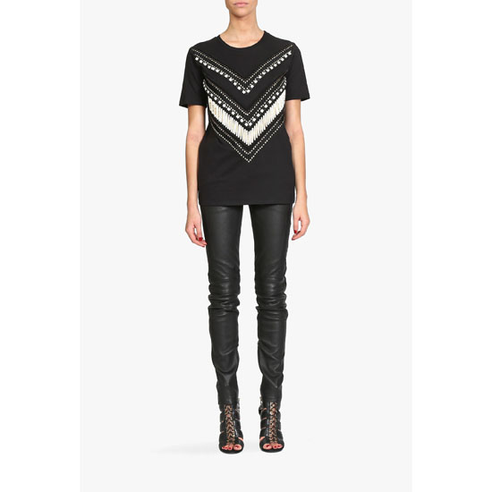 BALMAIN WOMEN BEADED COTTON JERSEY T-SHIRT Outlet Online