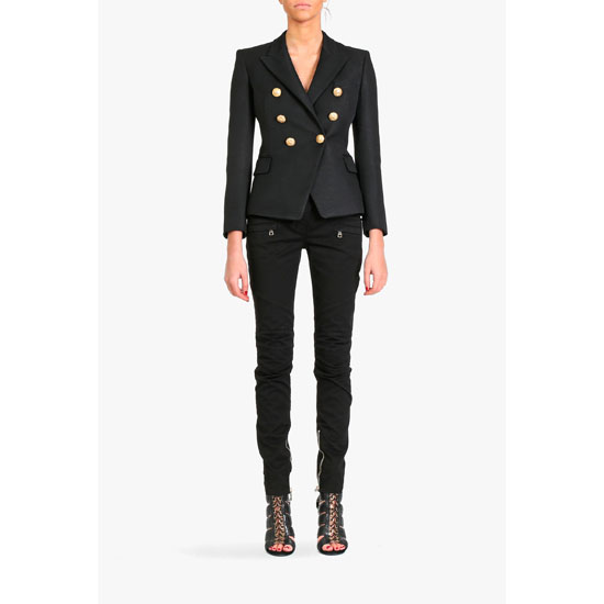 BALMAIN WOMEN DOUBLE-BREASTED JACKET Outlet Online