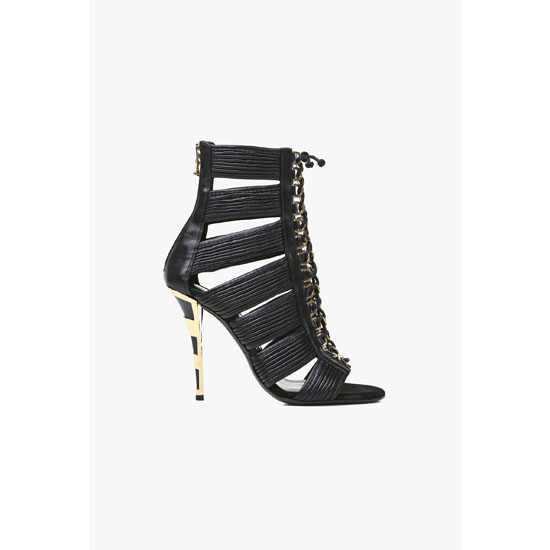 BALMAIN WOMEN HOPI LEATHER SANDALS Outlet Online