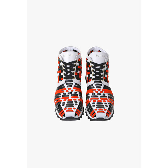 BALMAIN WOMEN MAWI BRAIDED LEATHER SNEAKERS Outlet Online
