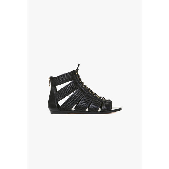 BALMAIN WOMEN HILO FLAT LEATHER SANDALS Outlet Online