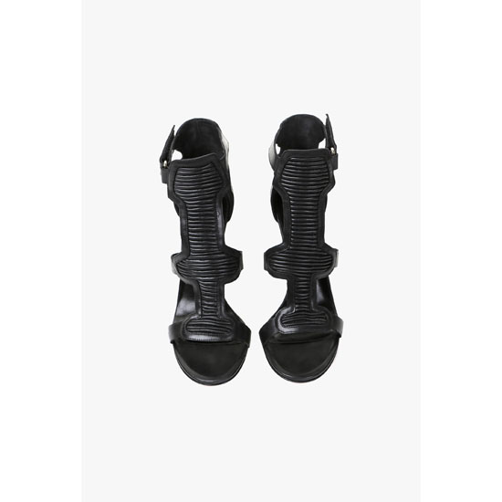 BALMAIN WOMEN ARGI LEATHER SANDALS Outlet Online