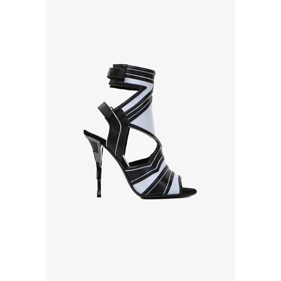 BALMAIN WOMEN KALI LEATHER SANDALS Outlet Online