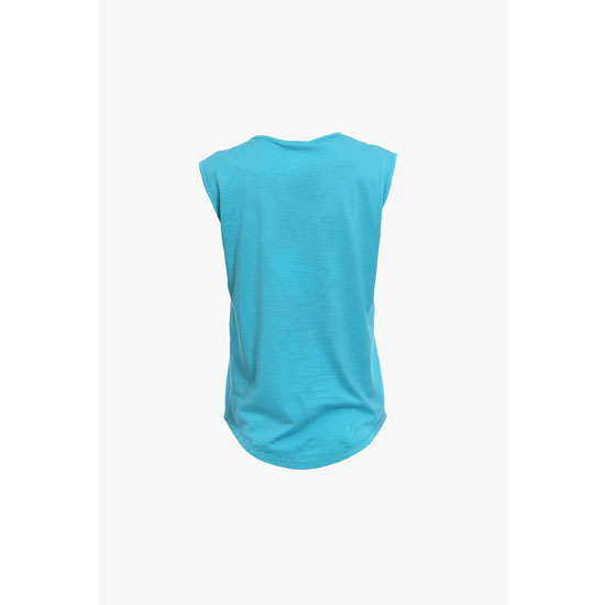 BALMAIN WOMEN SLEEVELESS LOGO PRINTED COTTON T-SHIRT Outlet Online