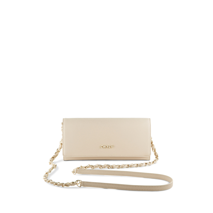 SAND DKNY SAFFIANO LEATHER WALLET CLUTCH Outlet Online