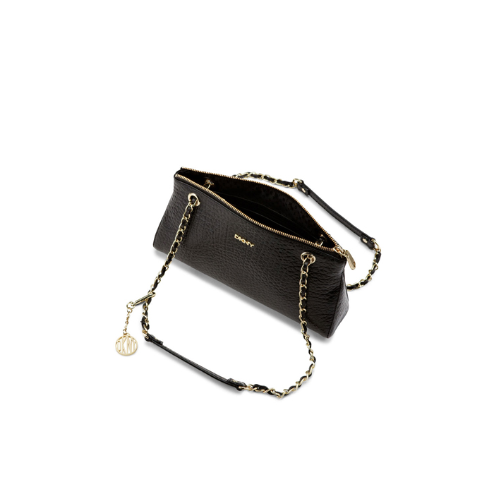BLACK DKNY FRENCH GRAIN LEATHER CLUTCH Outlet Online