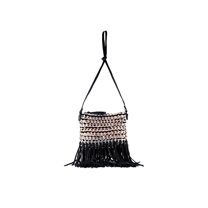 BLUSH DKNY BOTTLETOP FRINGE ENAMEL CROSSBODY Outlet Online