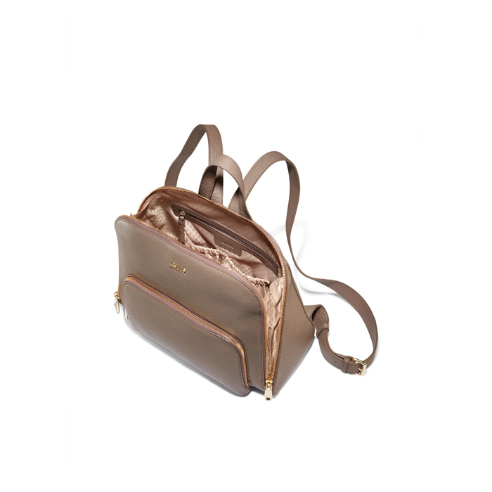 DESERT DKNY TUMBLED LEATHER ZIP TOP BACKPACK Outlet Online