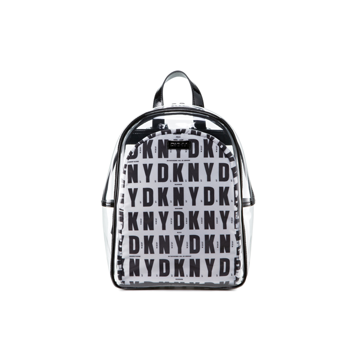 BLACK HQ DKNY CLEAR LOGO BACKPACK Outlet Online