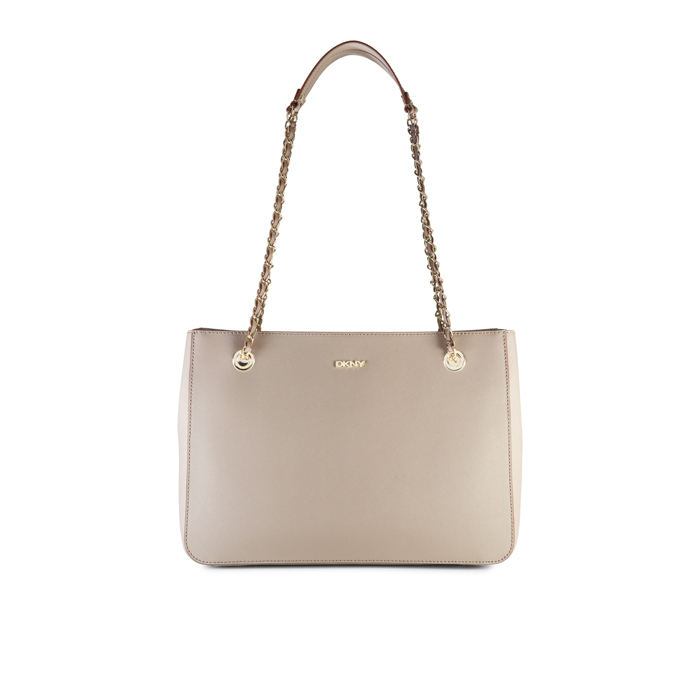 CEMENT DKNY SAFFIANO LEATHER CHAIN SHOPPER Outlet Online