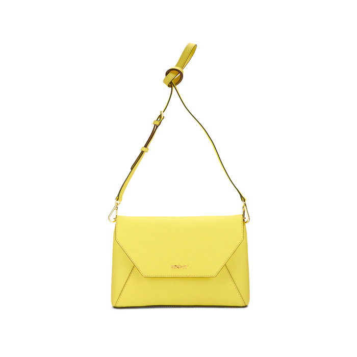 YELLOW DKNY SAFFIANO LEATHER FLAP CROSSBODY Outlet Online