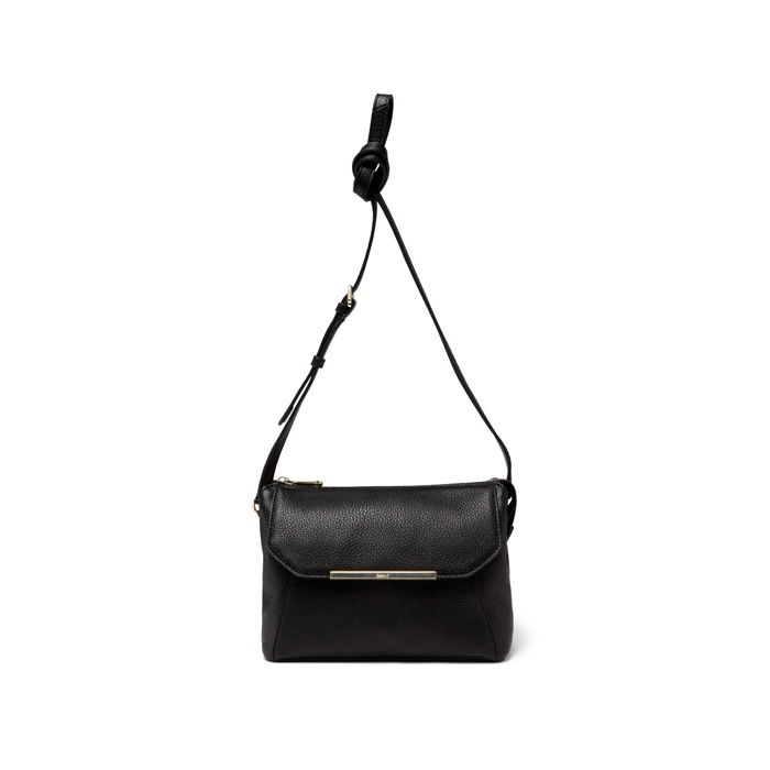 BLACK DKNY TUMBLED LEATHER CROSSBODY Outlet Online