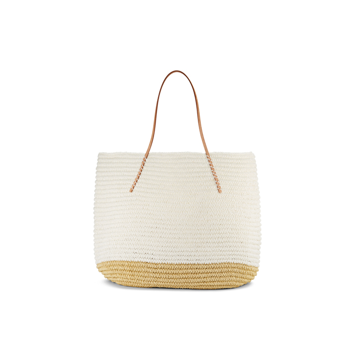 WHITE DKNY LARGE TWISTED COLORBLOCK TOTE Outlet Online