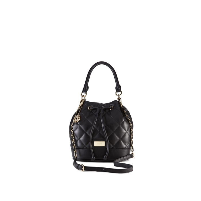 BLACK DKNY QUILTED LEATHER BUCKET BAG Outlet Online