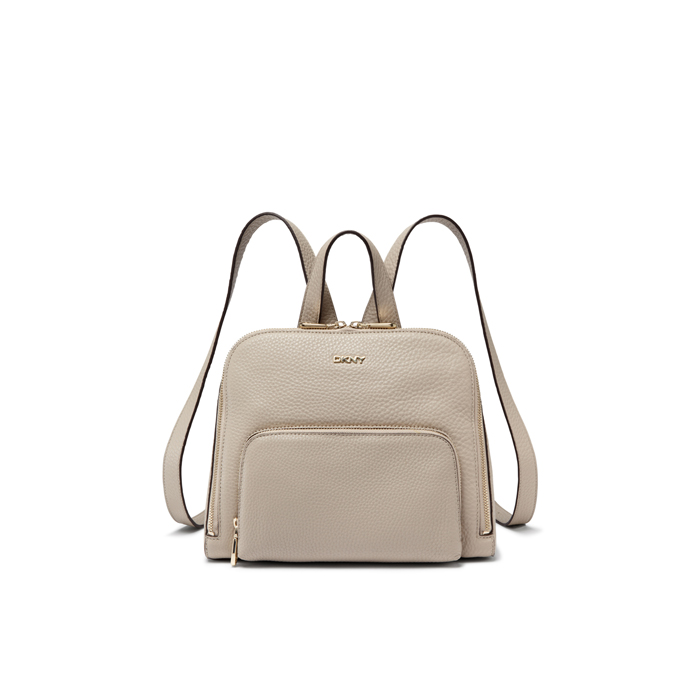 CEMENT DKNY TUMBLED LEATHER ZIP BACKPACK Outlet Online