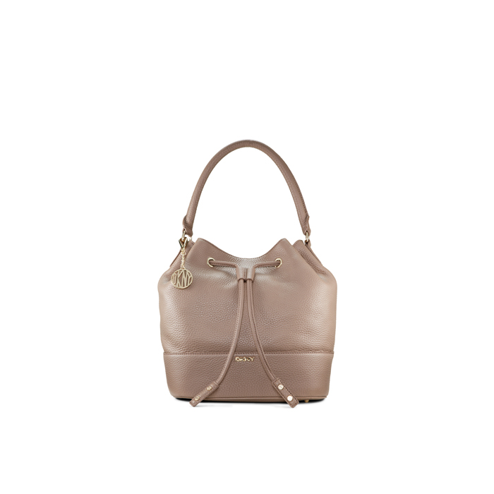 DESERT DKNY TUMBLED LEATHER BUCKET BAG Outlet Online