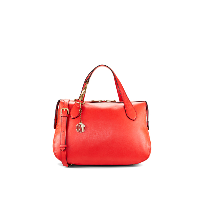 CORAL DKNY EAST/WEST LEATHER SATCHEL Outlet Online