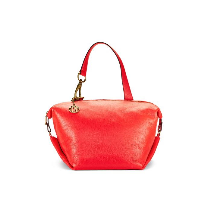 CORAL DKNY ONE HANDLE LEATHER SATCHEL Outlet Online