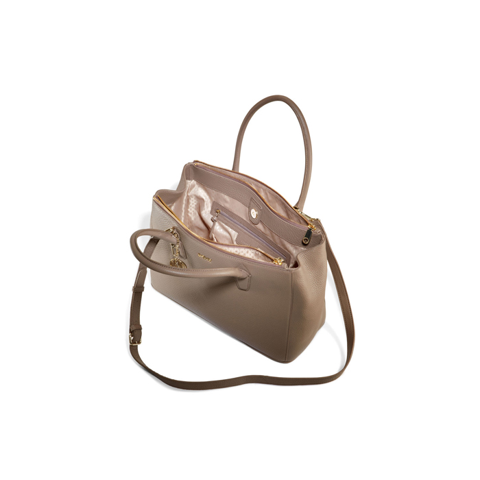 DESERT DKNY TUMBLED LEATHER DOUBLE ZIP SHOPPER Outlet Online