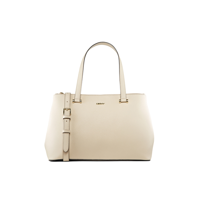 SAND DKNY SAFFIANO LEATHER DOUBLE ZIP SHOPPER Outlet Online