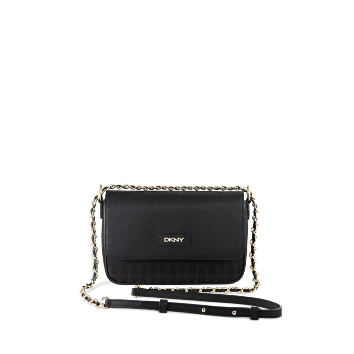 BLACK-BLACK DKNY HQ SAFFIANO SMALL FLAP CROSSBODY Outlet Online