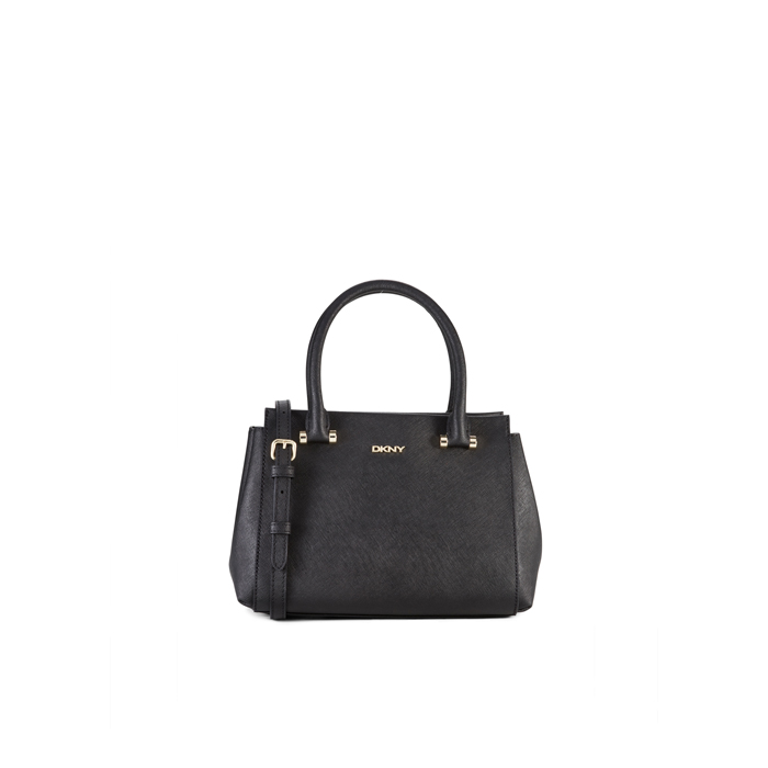 BLACK DKNY SAFFIANO LEATHER TOP HANDLE SATCHEL Outlet Online
